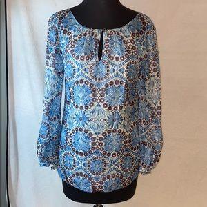 Tory Burch silk blend long sleeve shirt